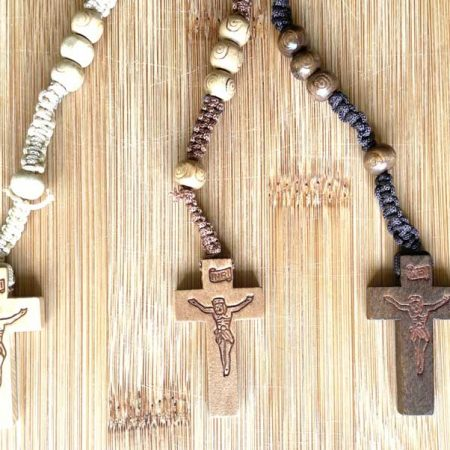 Native Patterned Mexican Rosary Beads