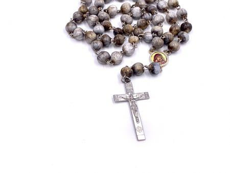 Holy Land Rosary from Jericho with Virgin Mary