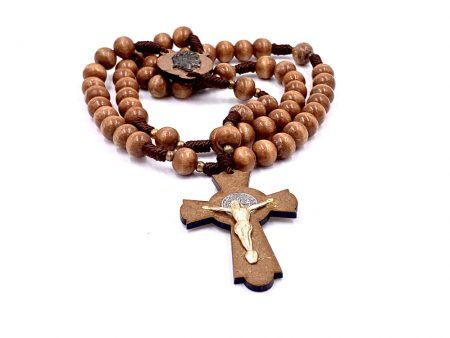 Giant Wood String Miracle Rosary Necklace
