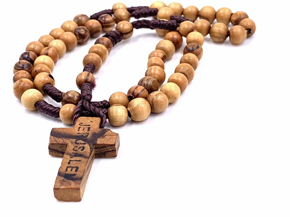 Jerusalem Rosary Wooden Beads