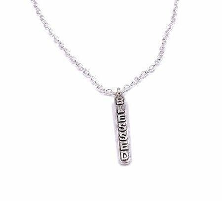 Alloy Christian Blessed Tag Pendant