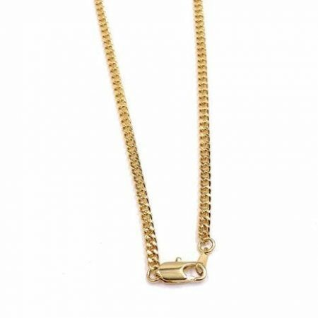 24 inch Gold Tone Chain Necklace Made in Italy