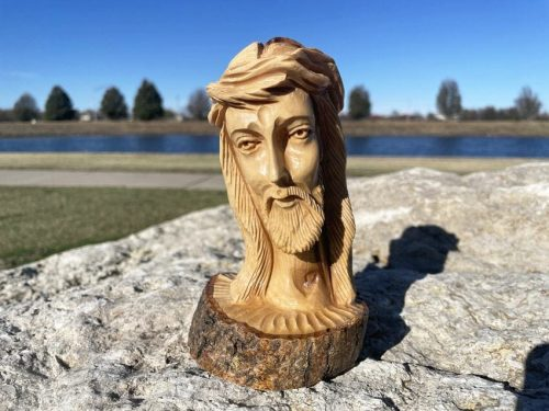 Olive Wood Carving of Christ from Israel
