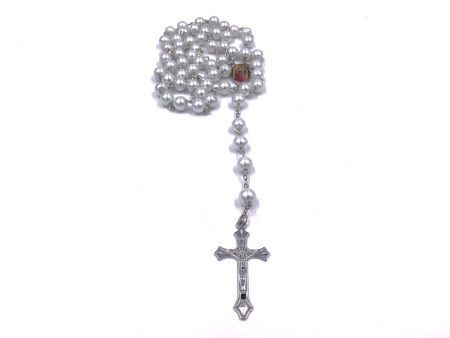 Faux Pearl Bead Rosary Chain For Women