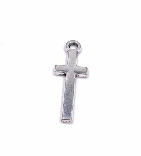 Antiqued Alloy Simple Cross Pendant