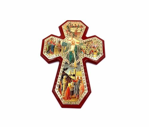 Wood Miracles of Christ Cross Art