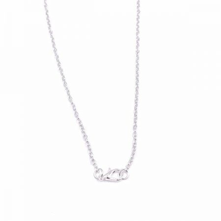 18″ Silver Plated Chain Necklace With Lobster Clasp