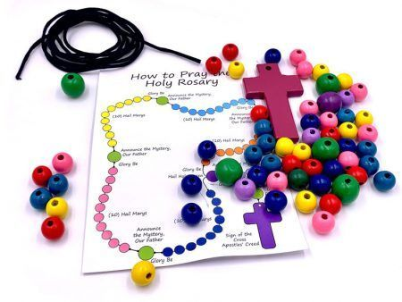 Colorful DIY Rosary Beads Kit for Kids