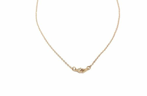 """18"""" 16K Gold Plated Flat Necklace"""