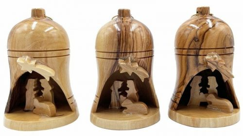 Bethlehem Wood Ornament With Nativity Scene