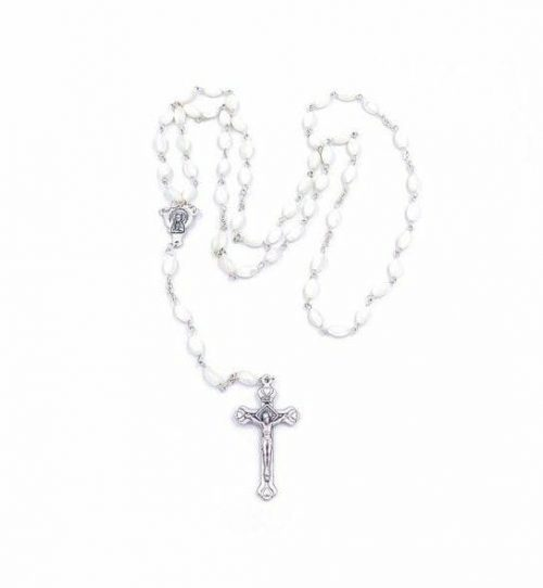 Mother of Pearl Rosary Beads From Mediterranean
