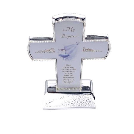 Elegant Standing Baptism Cross for Girl