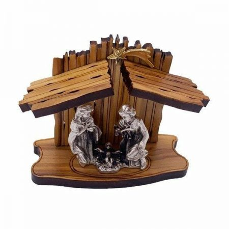 Laser Cut Olive Wood Nativity Scene
