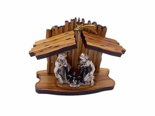 Laser Cut Olive Wood Nativity Scene