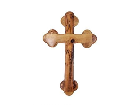 Olive Wood Jerusalem Cross For Wall