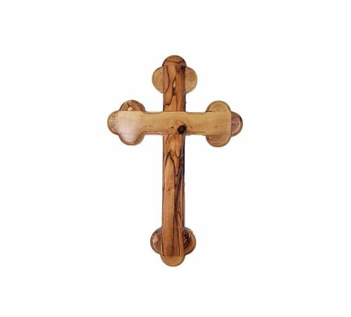 Olive Wood Jerusalem Cross For Wall