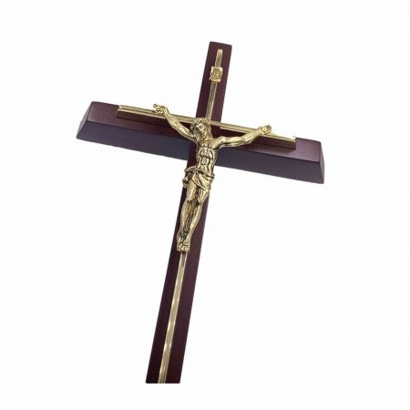 "12"" Premium Brass Crucifix Wall Hanging"