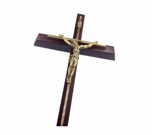 "12"" Premium Brass Crucifix Wall Hanging"