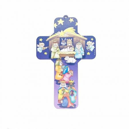 Nativity Cross for Kids with Blue Angels