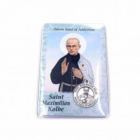 St. Maximilian Kolbe Patron Saint of Addictions Card