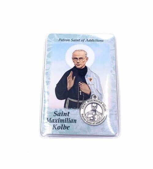 St. Maximilian Kolbe Patron Saint of Addictions Card
