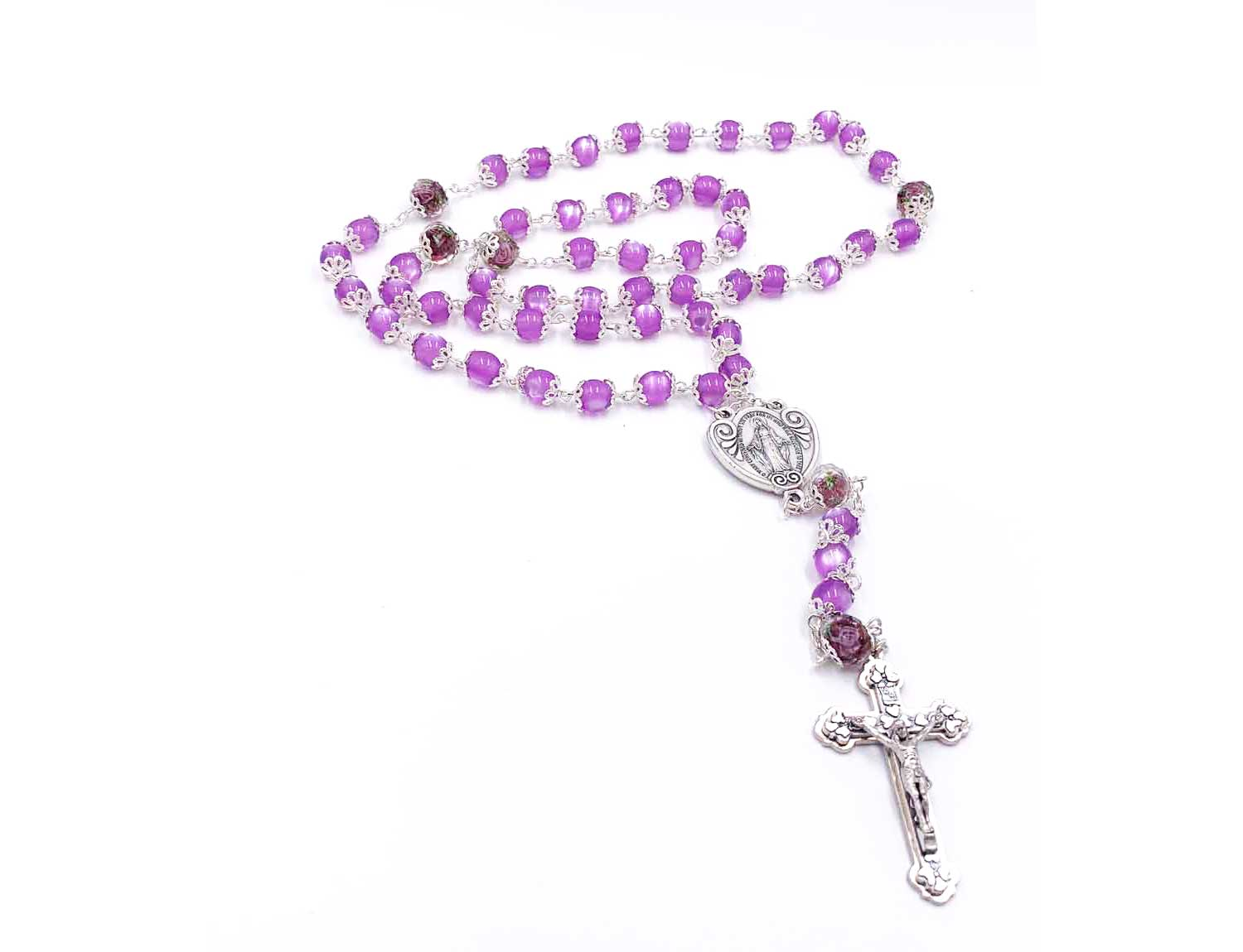 Violet Genuine Crystal Rosary from Italy