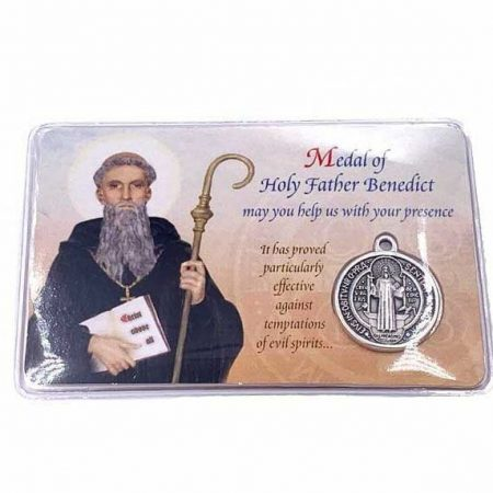 St. Benedict Medal Prayer Card for Protection