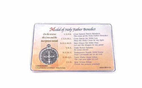Prayer for Healing Catholic Card St. Benedict