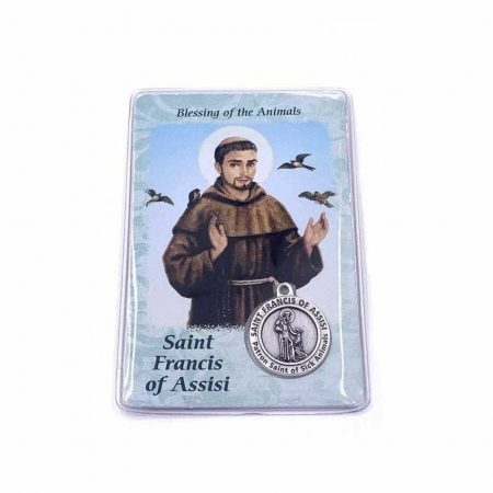 Laminated Card with Saint Francis Prayer for Pets