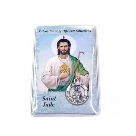 Saint Jude Healing Prayer Card with Medal