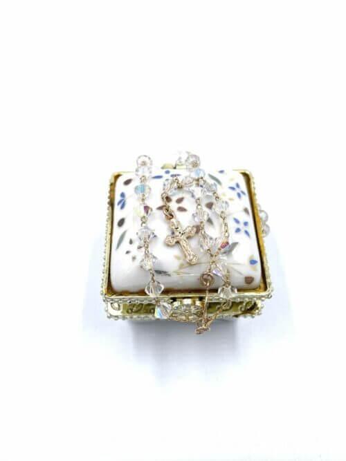 Translucent Murano Glass Bead Rosary