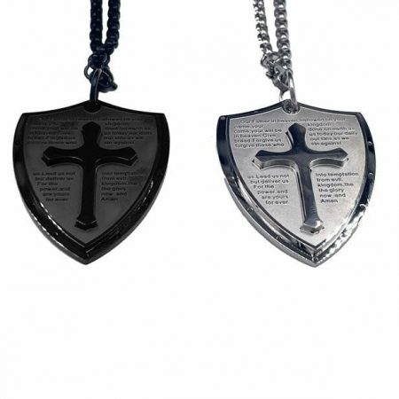 Stainless Steel Armor of God Shield with Lord's Prayer